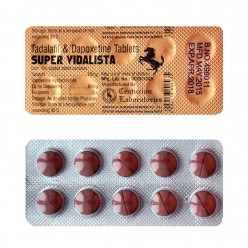 Супер Сиалис (Super Vidalista - Тадалафил 20мг + Дапоксетин 60мг) 10 таблеток